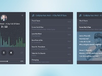 Audio player screens