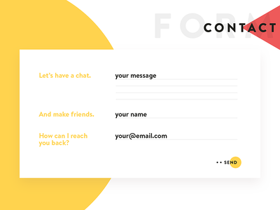 Contact Form personal website form design pattern input email send webdesign contact form contact website ux ui