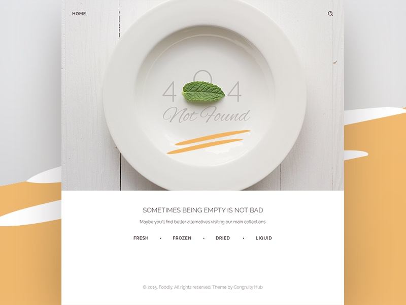 Foodly 404 error plate food grocery e-commerce shop not found website webdesign ux ui 404