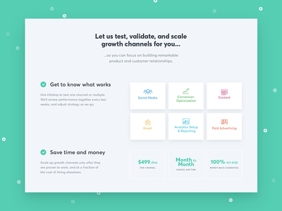 Hitshop Services grid layout growth conversion icons services marketing website landing page ux ui