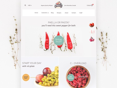 Foodly Store is Alive! food grocery store shop themeforest ux ui ecommerce shopify