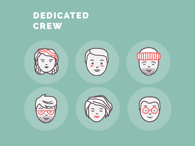 Freebie. Foodly Avatars crew team portrait character avatar facials icons freebie free