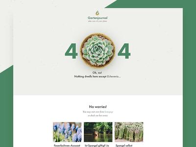 404 for garden blog gardening floral minimal blog succulent plant garden 404 ui