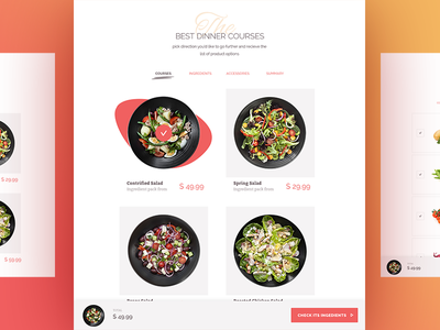 Foodly product constructor ecommerce shopify tiles grocery product cooking food ui