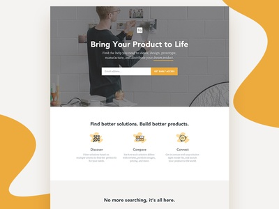 Flo for Consumers — Landing page procurement managers lightbulb idea product designers onboarding marketing icons inventors makers startups landing page ui