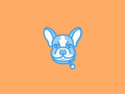 Frankie Frenchie frenchie mascot line illustration outline icon sketchapp vector puppy dog french bulldog