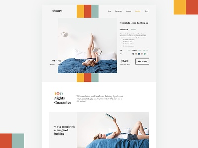 Product Page home shopify serif typography minimal store online shop product page ux ecommerce ui