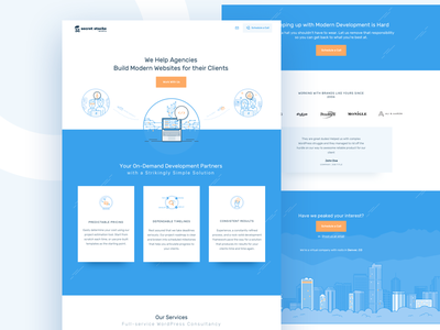 Development Team team web layout cityscape coders developers outline icons website webdesign landing page ui