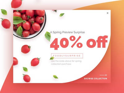 Popup vs No Popup coupon discount themeforest shop online store shopify theme product card food shopify ecommerce sale popup