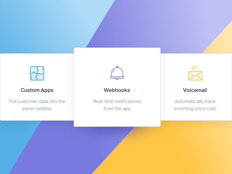 Integrations Icons sketch ui card icon design ui notification email record voice bell ring apps custom