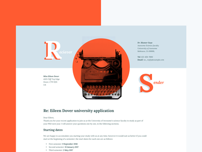 Letter. How often to practice to learn a new craft? sketch freebie typography interface website front-end html typing machine type letter ux ui