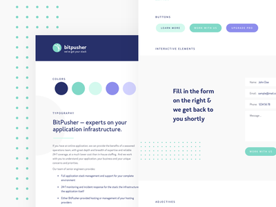 Style Tiles. UI Kick off ui kick off corporate tech startup buttons technology typography style guide color style tiles ui