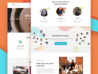 Hobby Society Landing Page