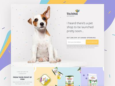 Pet Shop Landing Page online shop confetti shopify pets landing page ecommerce marketing site webdesign website ux ui