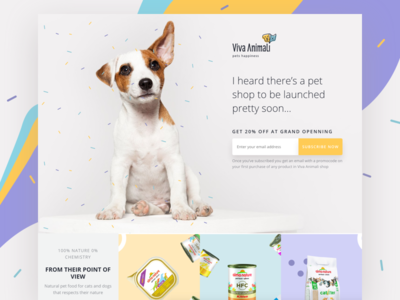 Pet Shop Landing Page online shop confetti shopify pets landing page ecommerce marketing site webdesign website ux ui