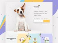 Pet Shop Landing Page