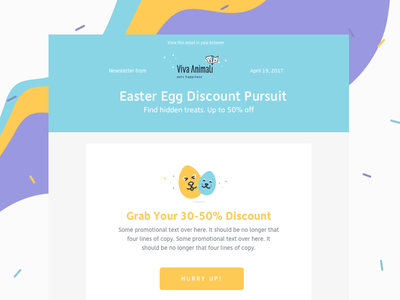 Email Template campaign illustration pets pet shop email marketing marketing newsletter email template email ui