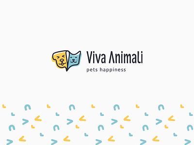Viva Animali logo pet shop pattern pets dog cat logomark logotype brand identity branding brand logo