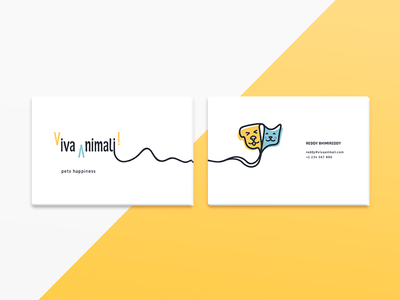 Viva Animali Business Cards logo swag dog cat pet shop pets brand identity card business card stationary branding brand