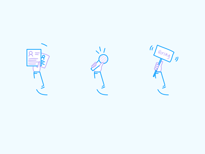 Hello Outreach Featured Icons real project job posting holding arms hands profile hiring influencer lead generation icon set icon
