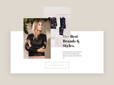 DD Special Category Ecommerce online store collection card homepage feminine lifestyle elegant fashion ecommerce shop store ui