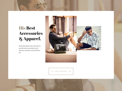 DD Collection Card Alternative online store collection card homepage men lifestyle elegant fashion ecommerce shop store ui