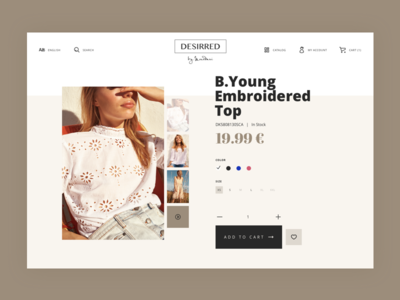 DD Product Ecommerce online store add to cart card product feminine lifestyle elegant fashion ecommerce shop store ui