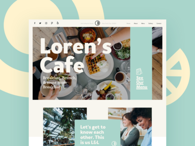 Local Cafe Homepage dinner breakfast menu takeaway merchant restaurant local cafe food cafe homepage ux ui