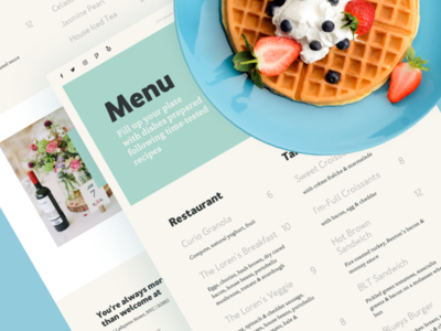 Loren's Cafe Menu dinner breakfast pancakes takeaway merchant restaurant local cafe food cafe menu page ux ui