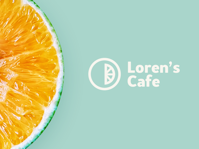 Loren's Cafe Logo brand identity branding lemon citrus food restaurant local cafe cafe brand log