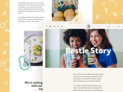 Loren's Cafe About avocado lemon breakfast dinner restaurant local cafe cafe webdesign story about ux ui