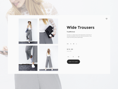 Product card for In House V6 ui kit minimal layout apparel shop fashion store shopify e-commerce product card ux ui