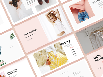 How would you describe this style? product card brand card beauty brand delicate soft blog minimal layout store shop ecommerce apparel fashion shopify ui kit