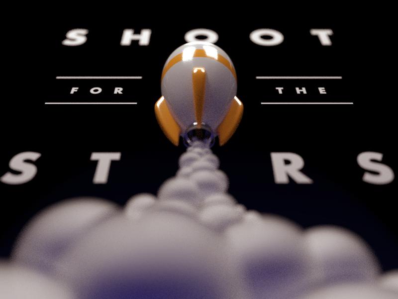 Stars - WIP design poster blender 3d