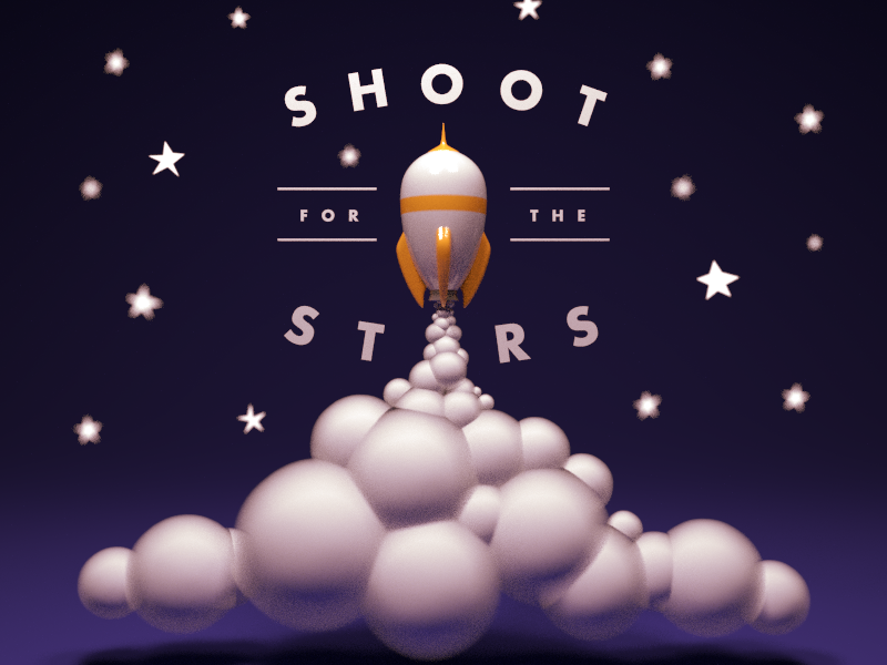 Shoot for the Stars blender 3d 3d rendering 3d art
