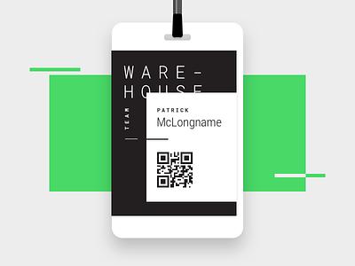 Warehouse ID Badge design graphic
