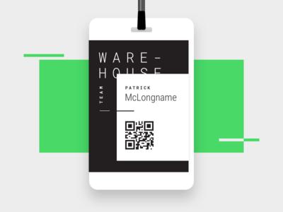 Warehouse ID Badge