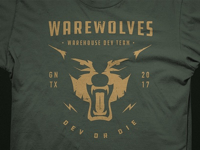 Warevolves Shirt Design design shirt design wolf badge design graphic design
