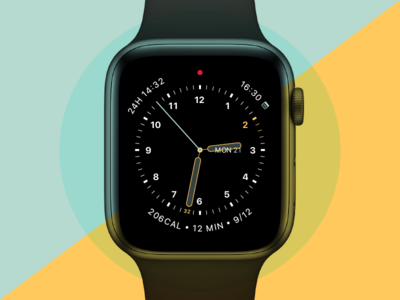 Apple Watch Face Experiment 001 graphic design watch faces ui design apple watch