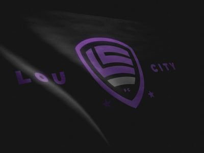 Lou City FC Flag logo motion design b3d blender 3d design 3d animation soccer badge badge design logo design