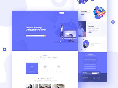 Education Landing Page vector web education website typhography ui-ux color minimal illustration landingpage education design