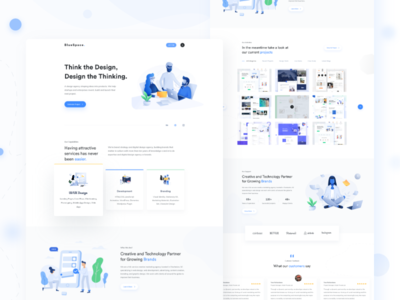 Digital Agency landing page minimal agency landing page webdesign web typography product design print interface marketing illustration gradients gradient financial exploration dribbble agency website animation clean agency branding agency