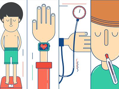 Mir_01 flat illustrations cute cure diabete