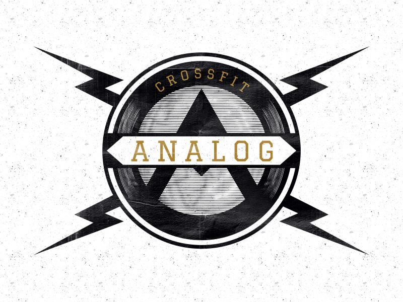Crossfit Analog emblem branding badge logo crossfit gym mark analog