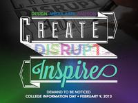 Create Disrupt Inspire