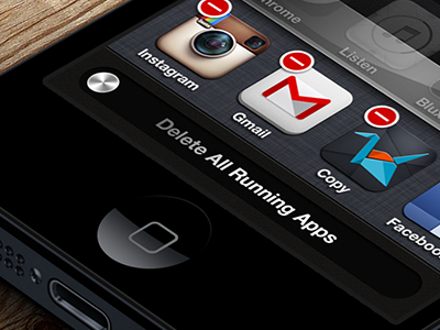 iOS Concept #Delete Apps ios concept delete slide