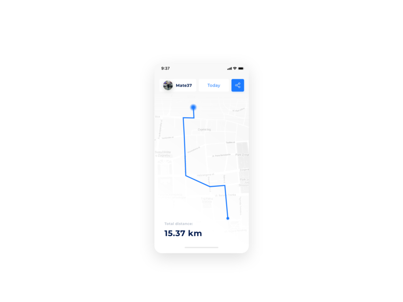 Daily UI Challenge #020 - Location Tracker clean app clean gps location tracker tracker location app location mobile app mobile animation daily challange ui design daily 100 challenge daily 100 dailui app adobe xd
