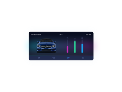 Daily UI Challenge #034 - Car Interface mercedes-benz mercedes benz mercedes car club car care car app car branding animation daily challange ui design illustration daily 100 challenge daily 100 dailui app adobe xd