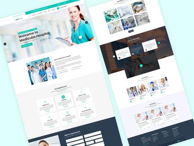 Medicube Hospital Landing Page