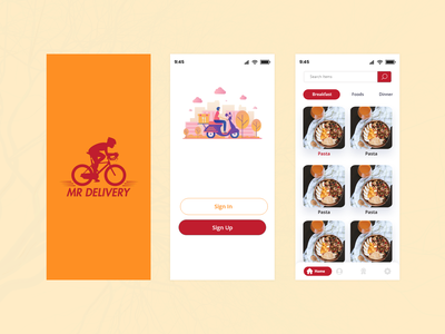 Food Delivery App illustration app desgn login page app concept delivery food delivery food app food ui